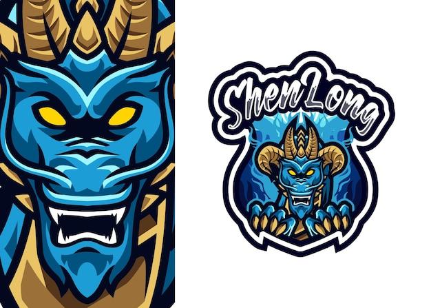 Illustrazione di esport di logo della mascotte del drago