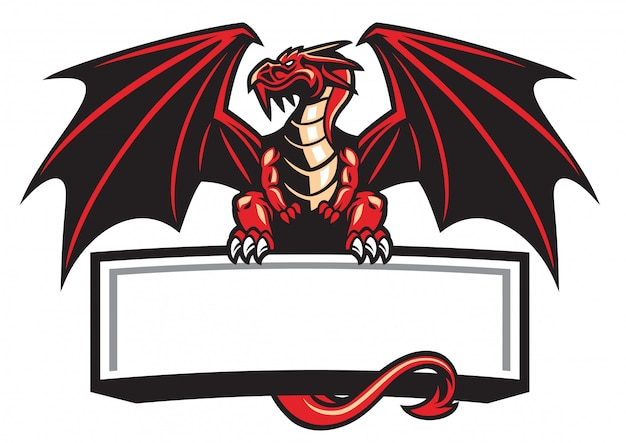 La mascotte del drago allargò le ali