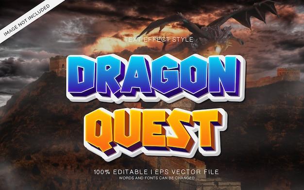 Dragon effetti del testo