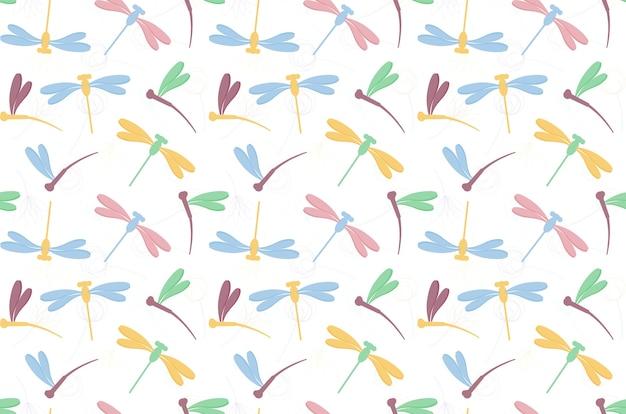 Sfondo del modello di libellula