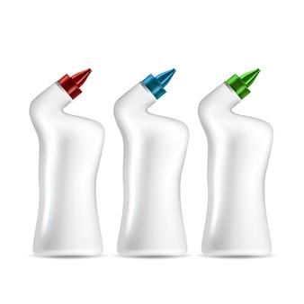 Set di bottiglie per tubo di scarico o detergente sanitario