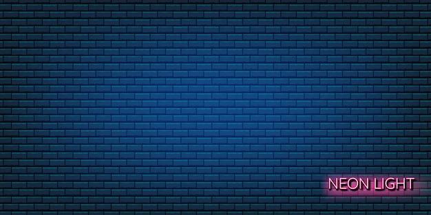 Illustrazione blu di struttura del muro di mattoni di drak usando come fondo e carta da parati con lo spazio della copia.
