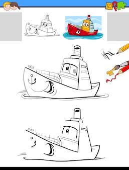 Disegnare e colorare l'attività di disegno