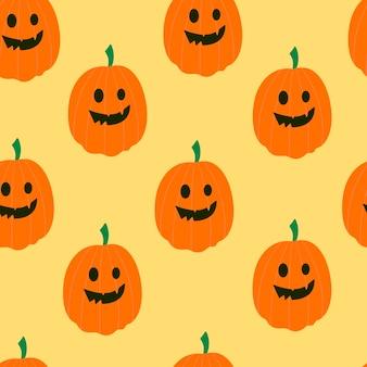 Disegno cartone animato zucca di halloween modello colorato senza cuciture halloween