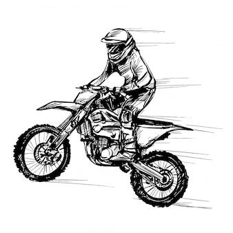 Disegno della competizione motociclistica
