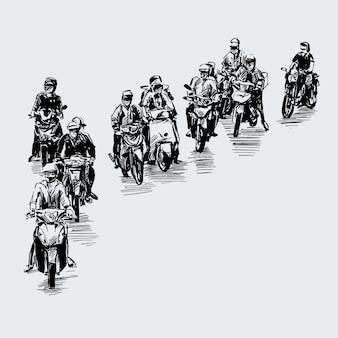Disegno della moto in vietnam