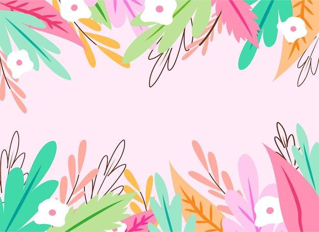 Sfondo primavera disegnata con fiori