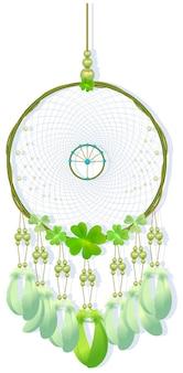 Dreamcatcher cucito illustrazione intrecciata