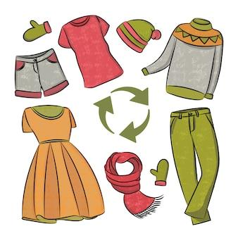 Abito riciclaggio global world ecologico