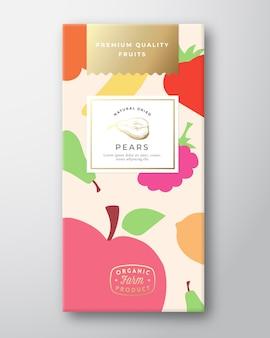 Layout design packaging etichetta frutta secca.