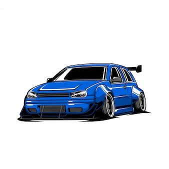 Illustrazione di auto alla deriva