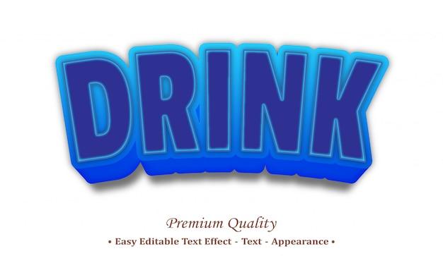 Bere 3d effetto stile testo modificabile