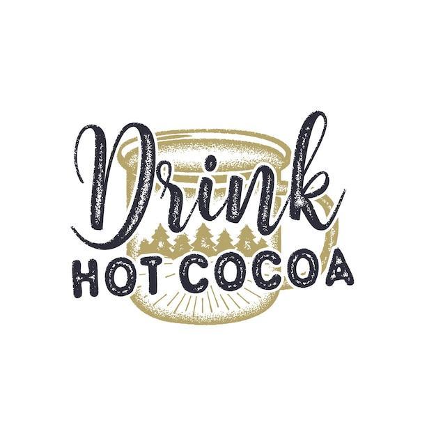 Bere cioccolata calda illustrazione