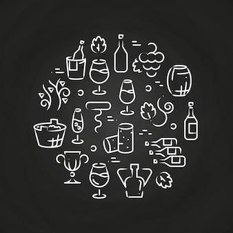 Icone di linea di bevande