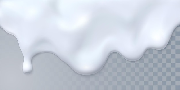 Latte bianco gocciolante isolato