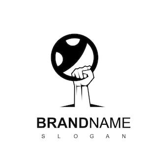 Guidare il modello di progettazione del logo, icona della squadra di corse;