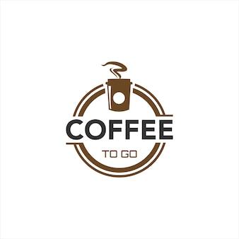 Guidare attraverso il design del logo del bar caffetteria