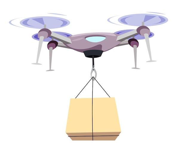 Drone scatola di trasporto illustrazione.