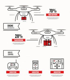 Raccolta di infronti drone