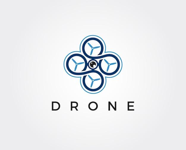 Drone logo modello icona fotografia drone quadricottero vettore icona