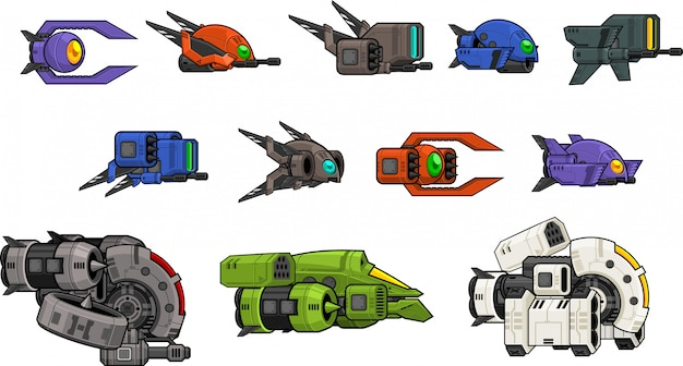 Drone space shooter sprite