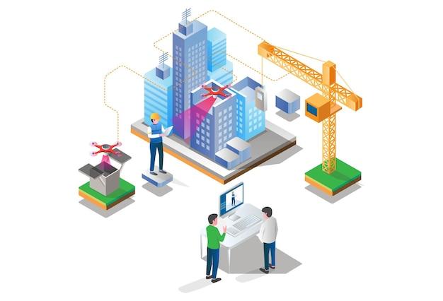 Droni e computer stanno analizzando lo sviluppo della città
