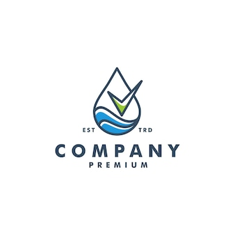 Goccia controllo logotipo vettoriale logo olio acqua sangue