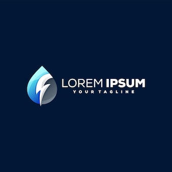 Design del logo con gradiente di colore goccia