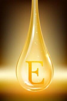 Goccia di olio, vitamina e. illustrazione vettoriale isolato
