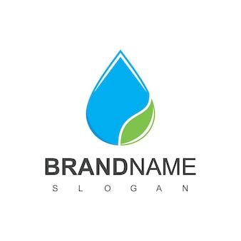Goccia d'acqua logo design vector