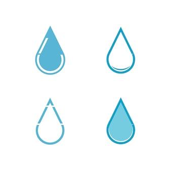 Set logo goccia d'acqua