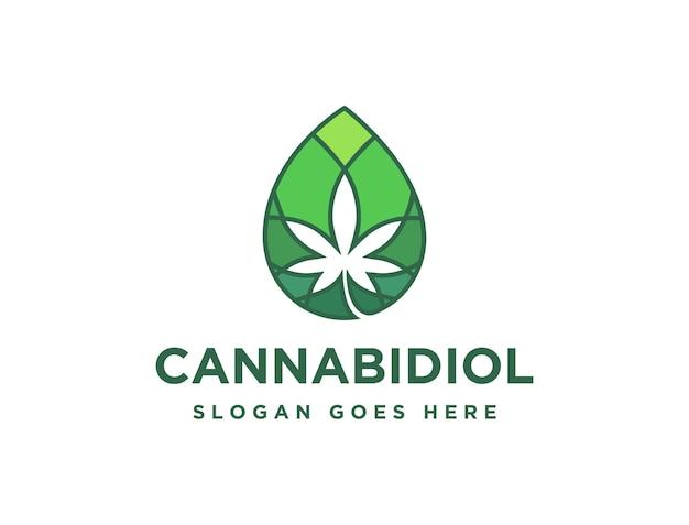 Droplet cannabidiolo cannabis canapa marijuana olio cbd logo