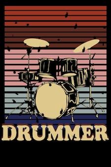 Il disegno della mano del batterista