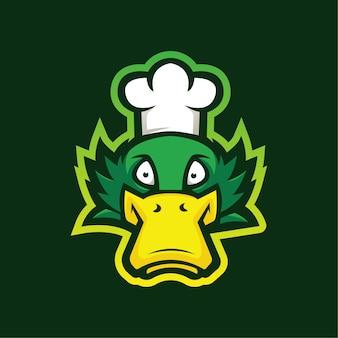 Disegno del logo mascotte anatra