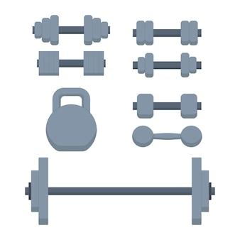 Manubri, kettlebell, bilanciere, attrezzatura sportiva, attrezzi da palestra