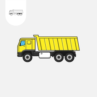 Autocarro con cassone ribaltabile vettore autocarro con cassone ribaltabile cartone animato