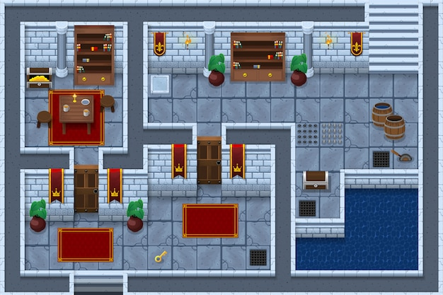 Dungeon game tileset