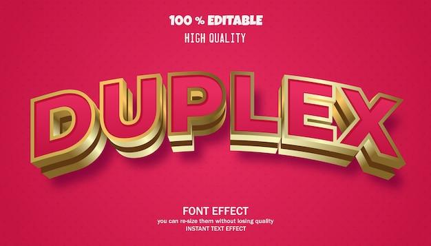 Effetto di testo duplex, carattere modificabile