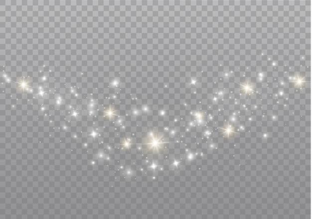 Le scintille di polvere e le stelle dorate brillano di una luce speciale