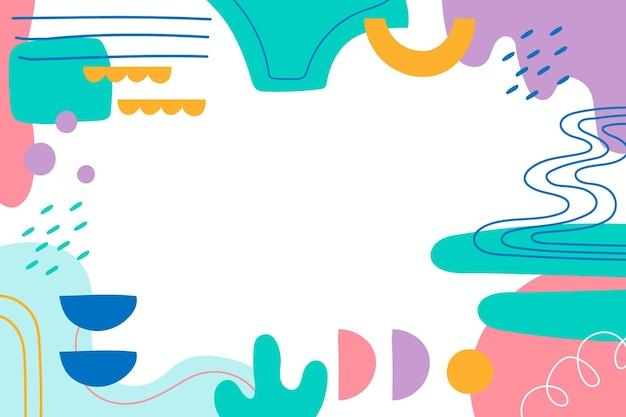 Sfondo di forme colorate dinamiche