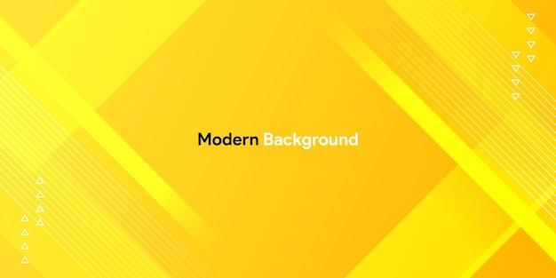 Forma gialla colorata dinamica con sfondo geometrico e sfumato