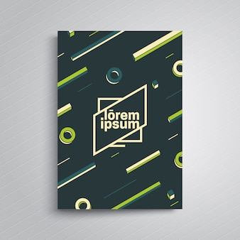 Modello di poster di design dinamico.