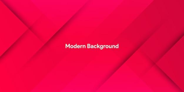 Dinamico fluido rosso geometrico con sfondo sfumato colorato Vettore Premium