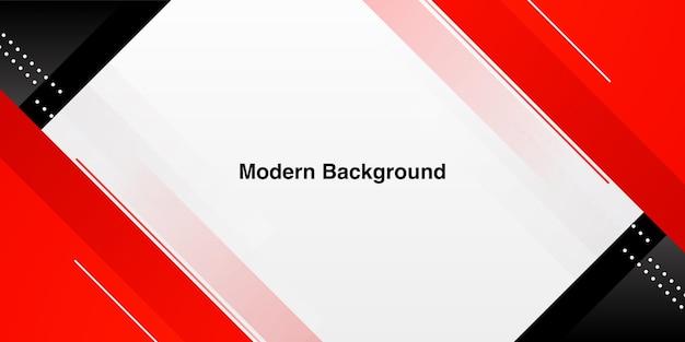 Forma rossa moderna dinamica su sfondo bianco Vettore Premium