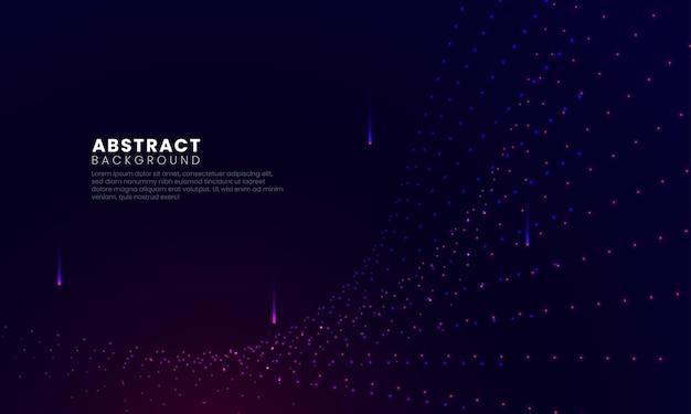 Particelle dinamiche che vorticano e fanno luce sullo sfondo digitale
