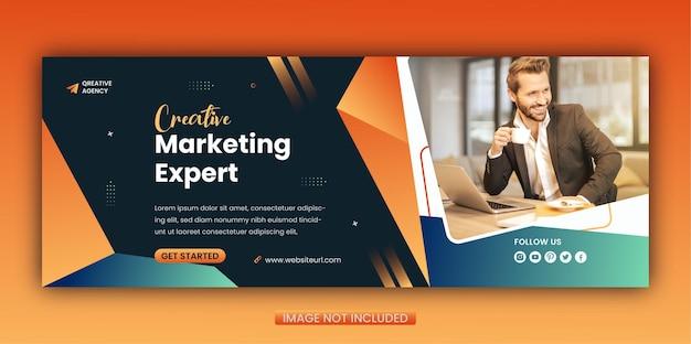 Modello di copertina facebook per social media marketing dinamico