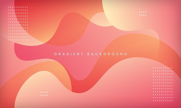 Design dinamico dello sfondo con texture in stile sfumato liquido con colore rosa pesca moderno minimal