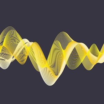 Illustrazione di onde dinamiche, sfondo astratto. immagine di stile creativo ed elegante