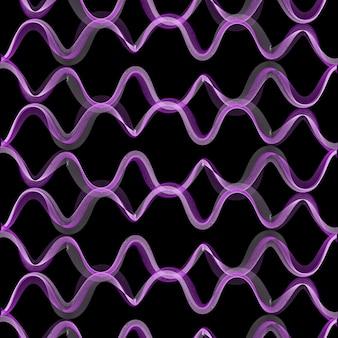 Modello di onde dinamiche, sfondo astratto. immagine di stile creativo ed elegante