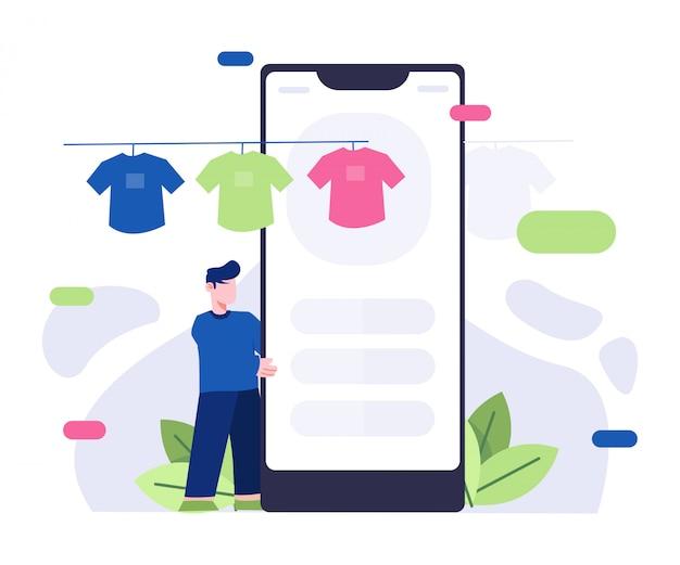 Illustrazione catalogo prodotti e-commerce